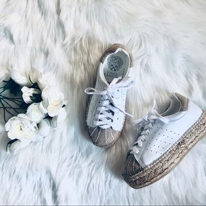 Vince Camuto Leather Espadrille Platform Sneakers